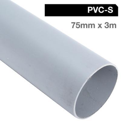 Tubo PVC-S 75mm x 3m  Gris Cementar