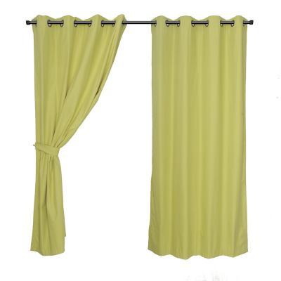 Set de cortinas tela 140x220cm verde
