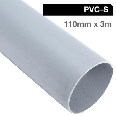 Tubo PVC-S 110mm x 3m  Gris Cementar
