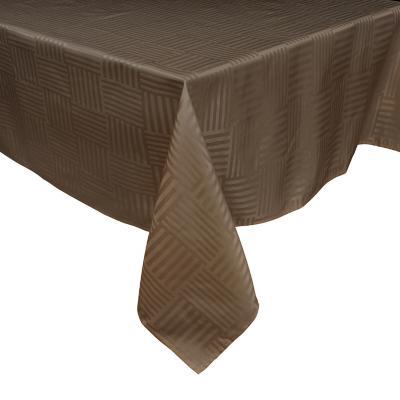 Mantel Grecia 180x180 cm chocolate cuadrado poliéster