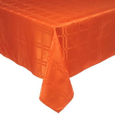 Mantel Roma 180x180 cm naranjo cuadrado poliéster