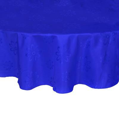Mantel Agatha 180 cm azul redondo poliéster