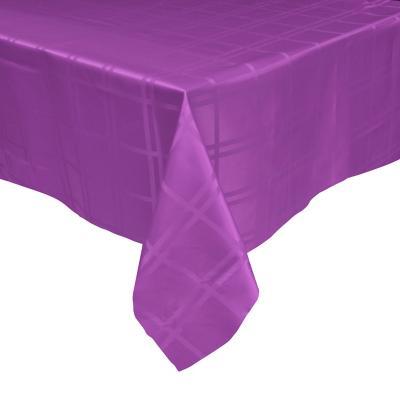 Mantel Roma 180x180 cm púrpura cuadrado poliéster