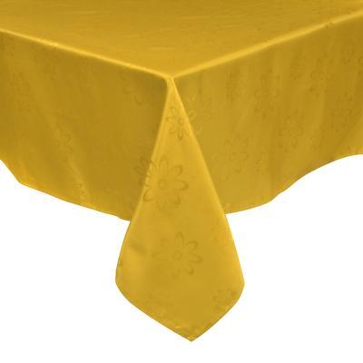 Mantel Agatha 180x180 cm amarillo cuadrado poliéster