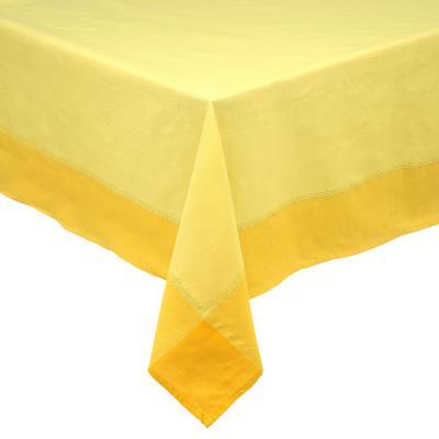 Mantel rústico 180x180 cm amarillo cuadrado poliéster