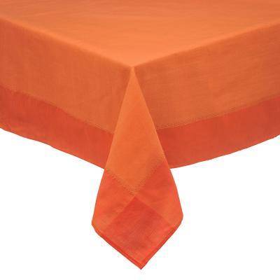 Mantel rústico 180x180 cm naranjo cuadrado poliéster