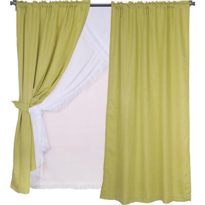 Set de cortinas tela 145x220cm Diana pistacho