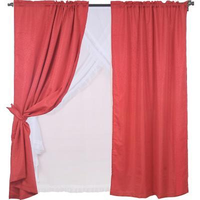 Set de cortinas tela 145x220cm Diana rojo