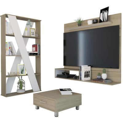 Combo separador de ambientes + panel TV 55 + mesa de centro