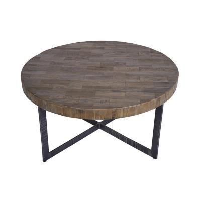 Mesa de centro redonda madera 90x90x42 cm