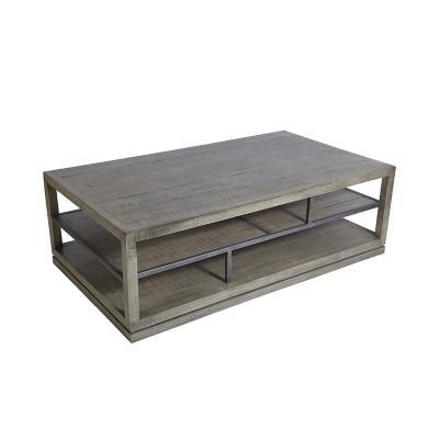 Mesa de centro madera 45x140x80 cm