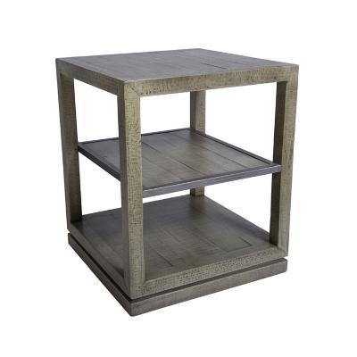 Mesa lateral madera café 60x50x50 cm
