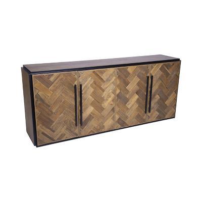 Buffet de madera café 85x200x45 cm