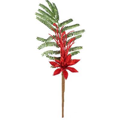 Rama 33 cm hojas rojas