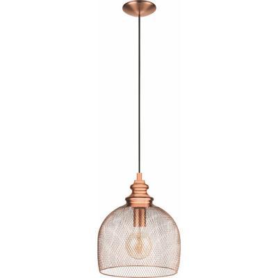 Lámpara de colgar acero Straiton cobre