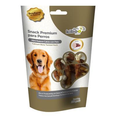 Snack perro huesitos de calcio envueltos en pato
