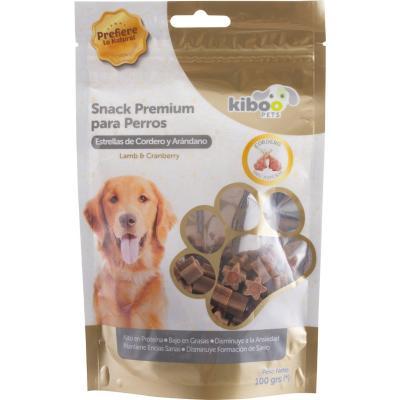 Snack perro estrellitas de cordero con arándano