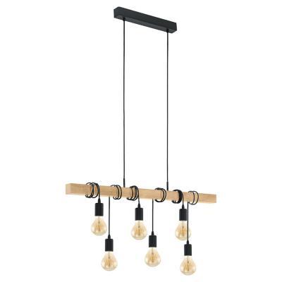 Lámpara de colgar acero Townshend negro