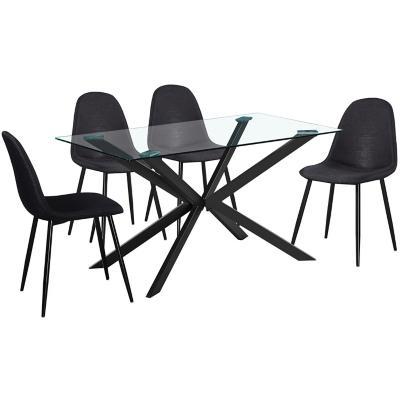 Juego de comedor vidrio 4 sillas
