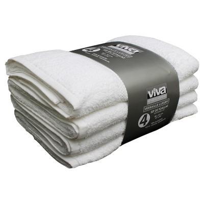 Set de 4 toallas blanca 68x137 cm