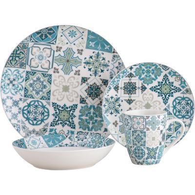 Juego vajilla 16 piezas Mosaico