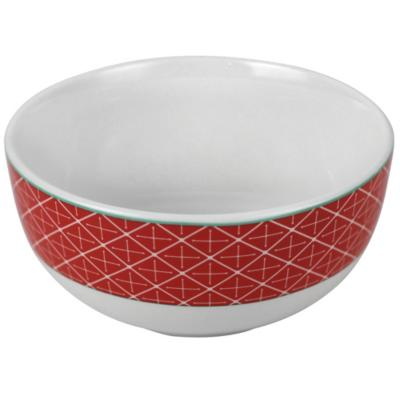 Bowl geometrico naranja