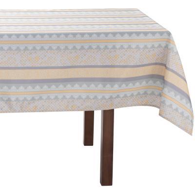 Mantel rectangular 240x180 cm gris / mostaza