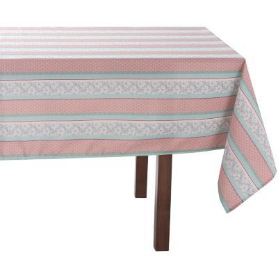Mantel rectangular 240x180 cm rosado Flores