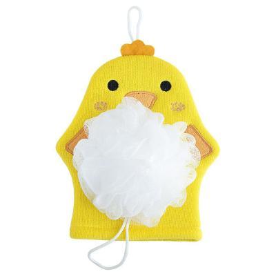 Guante Kids baño con esponja Pollo