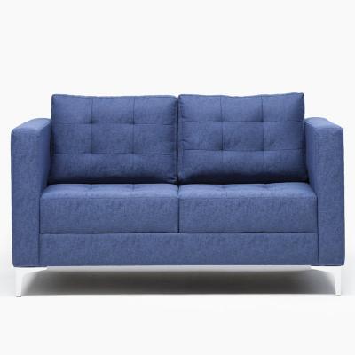 Sofá 2 cuerpos 74x86x142 cm azul