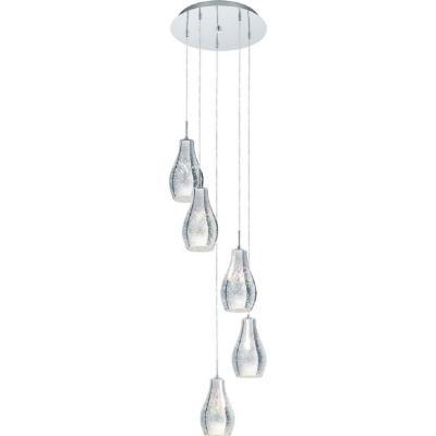 Lámpara de colgar acero cromado Alvaredo
