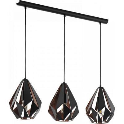 Lámpara de colgar acero Carlton negro