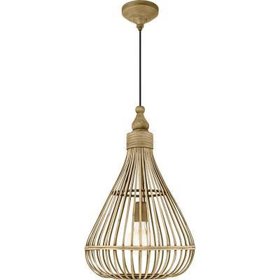 Lámpara de colgar acero Amsfield café
