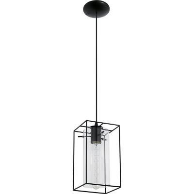 Lámpara de colgar acero Loncino negro