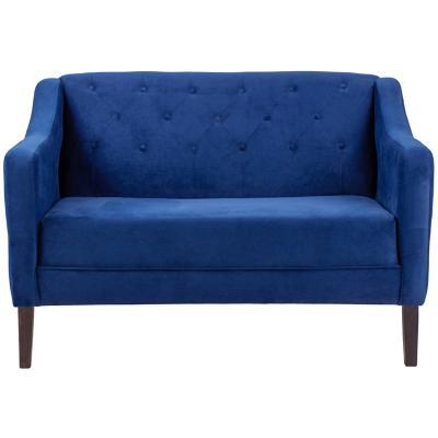 Sofá 2 cuerpos 120x75x81 cm azul