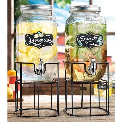 Set 2 dispensadores de vidrio para bebidas 3,7l