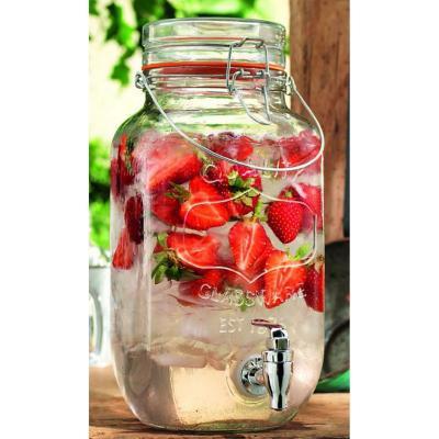 Dispensador vidrio con manilla para bebidas 3,5l