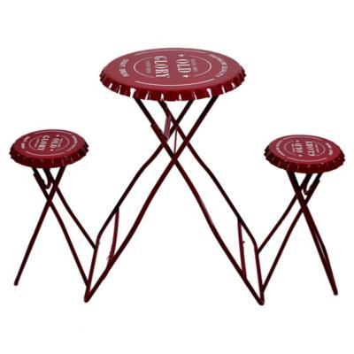 Juego balcón Bristol 3 piezas rojo