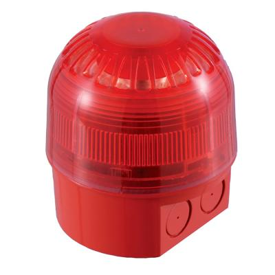 Sirena Sonos con baliza led roja, 17-60VDC