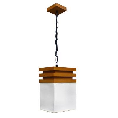 Lámpara colgante jaziz metal tejida café metal 1 luz E27