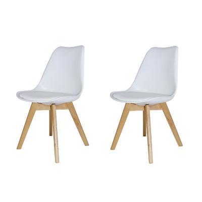 Pack de 2 sillas eames blancas con cojín