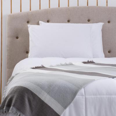 Manta cuadrillé 130x160cm gris/beige