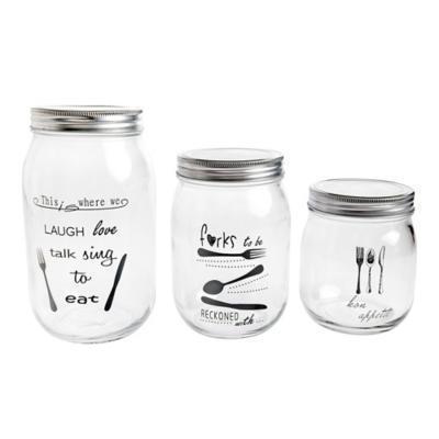 Frasco vidrio 1,4 lt frases tapa silver