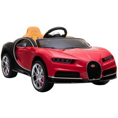 Auto a batería Bugatti rojo