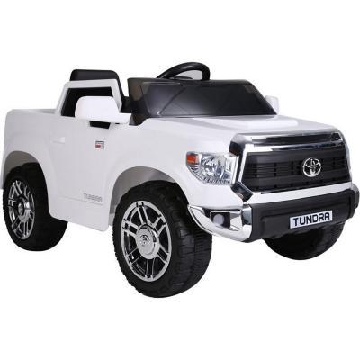 Camioneta tundra a batería blanca