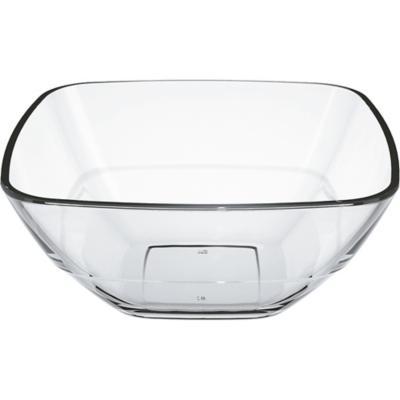 Ensaladera 11x23x23 cm transparente vidrio