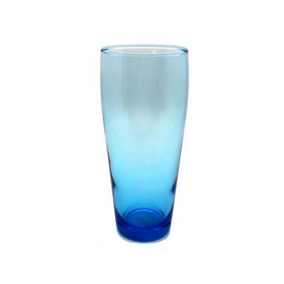 Vaso de vidrio turquesa
