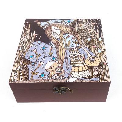 Caja decorativa hada grande 20x20x8 cm