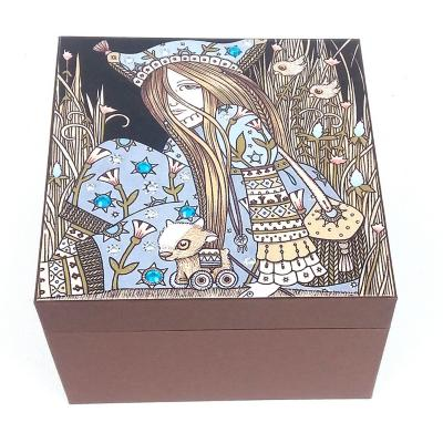 Caja decorativa hada café 15x10x15 cm