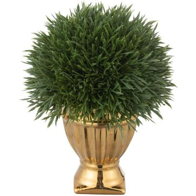Arreglo planta artificial base cerámica 18 cm